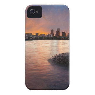 Portland OR Skyline along Willamette River Sunset iPhone 4 Case-Mate Case