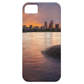 Portland OR Skyline along Willamette River Sunset iPhone 5 Covers