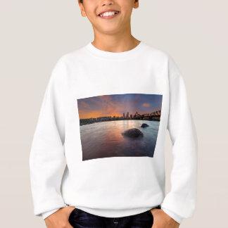 Portland OR Skyline along Willamette River Sunset Sweatshirt