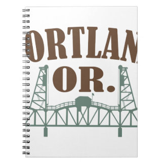 Portland OR Spiral Note Book