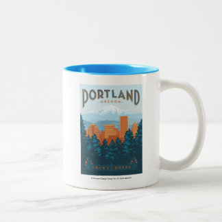Portland, OR Two-Tone Coffee Mug