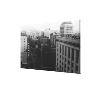 Portland, OR View of Broadway from Main St. Canvas Print