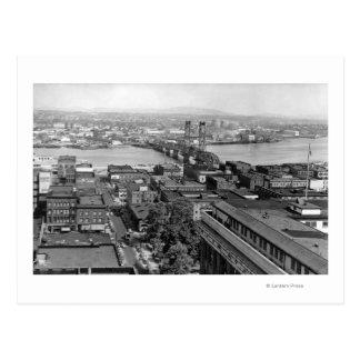 Portland, OR View of City and Hawthorne Bridge Postcard