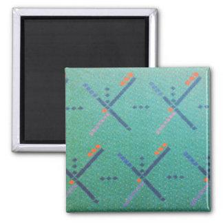 Portland Oregon Airport Carpet Square Magnet