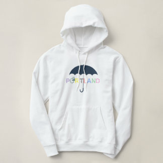 Portland Oregon Bike Umbrella Hoodie Sweatshirt