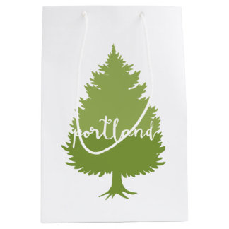 Portland, Oregon calligraphy tree Medium Gift Bag