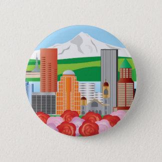 Portland Oregon Cityscape Button
