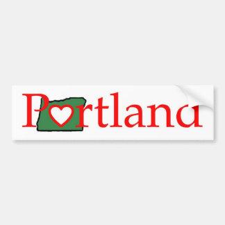 portland Oregon Heart Shirt Bumper Sticker