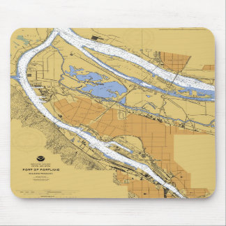 Portland Oregon Nautical Harbor Chart Mousepad