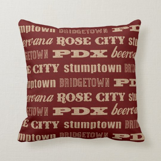 Portland Oregon Nicknames Throw Pillow