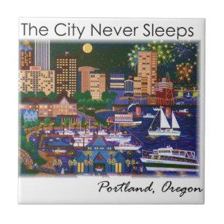 Portland Oregon @ Night Tile