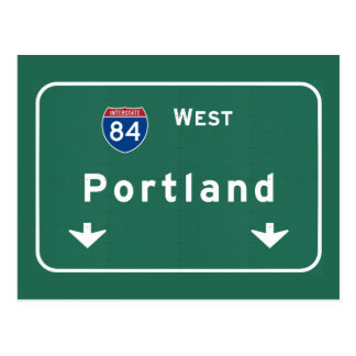 Portland Oregon or Interstate Highway Freeway : Postcard