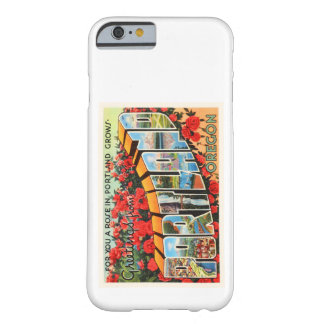 Portland Oregon OR Old Vintage Travel Souvenir Barely There iPhone 6 Case