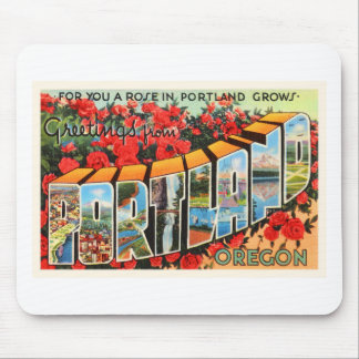 Portland Oregon OR Old Vintage Travel Souvenir Mouse Pad