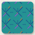 Portland Oregon PDX Airport Carpet Coaster