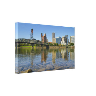 Portland Oregon Skyline Stretched Canvas Print