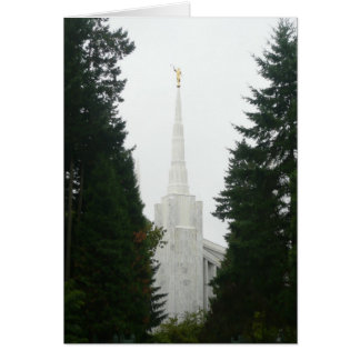 PORTLAND OREGON TEMPLE - Blank Note Card