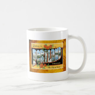 Portland Oregon Vintage Souvenir Post Card Coffee Mug