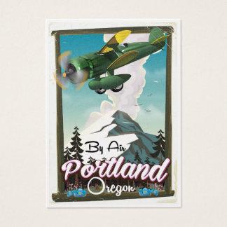 Portland, Oregon vintage travel poster Business Card