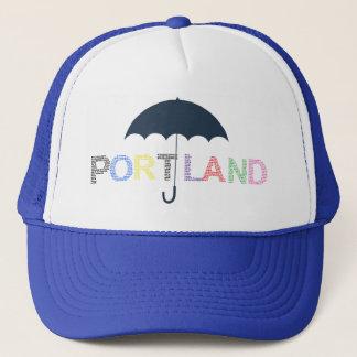 Portland Rain Weather Blue Baseball Cap  Hat