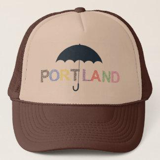 Portland Rain Weather Brown Tan Baseball Cap Hat