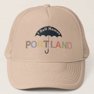 Portland Real Estate Homes Tan Baseball Cap Hat