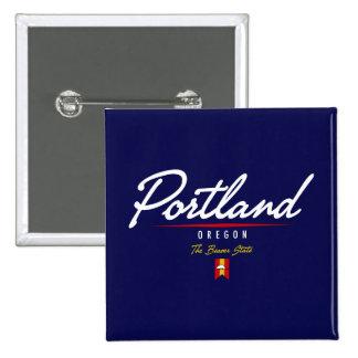 Portland Script Pin