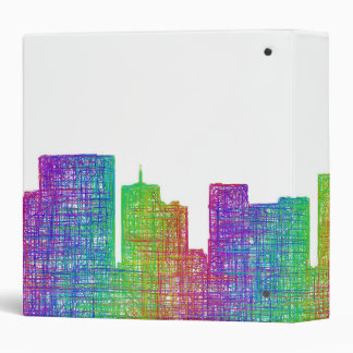 Portland skyline 3 ring binders