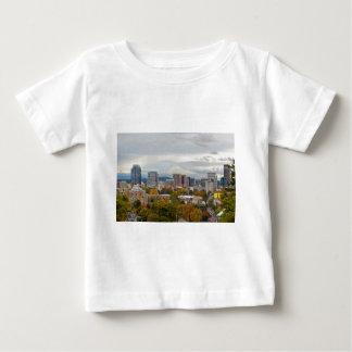 Portland Skyline and Mount Hood in Fall Season Baby T-Shirt
