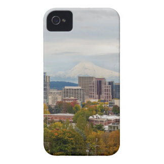 Portland Skyline and Mount Hood in Fall Season iPhone 4 Case-Mate Case