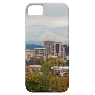 Portland Skyline and Mount Hood in Fall Season iPhone 5 Case