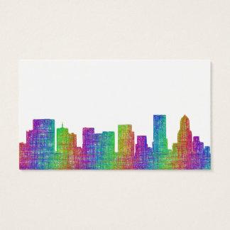 Portland skyline business card