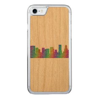 Portland skyline carved iPhone 7 case