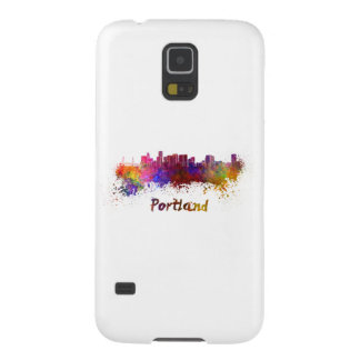 Portland skyline in watercolor galaxy s5 covers