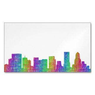 Portland skyline magnetic business card