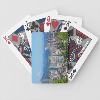 Portland Skyline Mount Hood Playing Cards