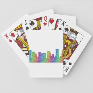 Portland skyline playing cards