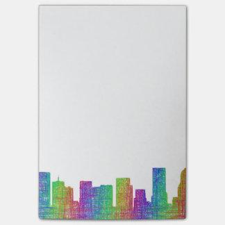 Portland skyline post-it® notes