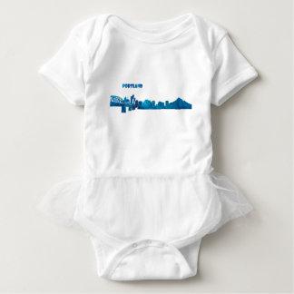 Portland Skyline Silhouette Baby Bodysuit