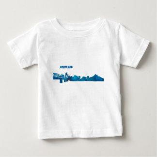 Portland Skyline Silhouette Baby T-Shirt