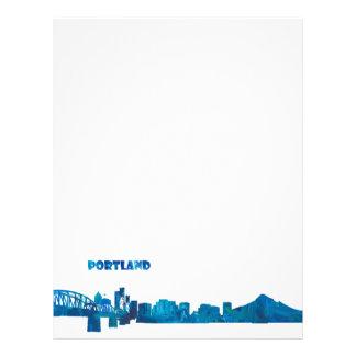 Portland Skyline Silhouette Letterhead