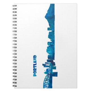 Portland Skyline Silhouette Notebook