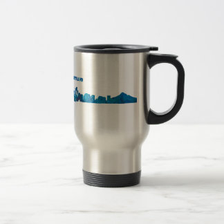 Portland Skyline Silhouette Travel Mug