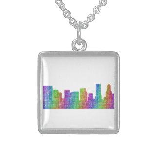 Portland skyline sterling silver necklace