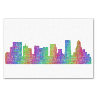 Portland skyline tissue paper