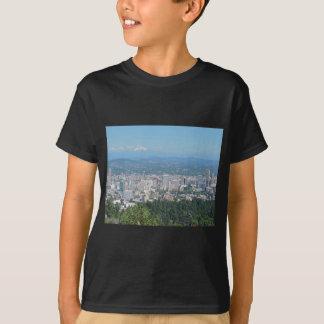 Portland Skyline with Mount Hood T-Shirt
