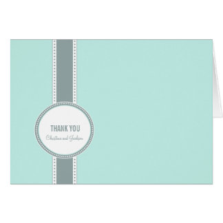 Portland Thank You Card: Teal Card