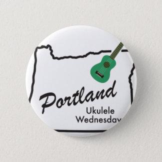 Portland Ukulele Wednesdays 2 Inch Round Button