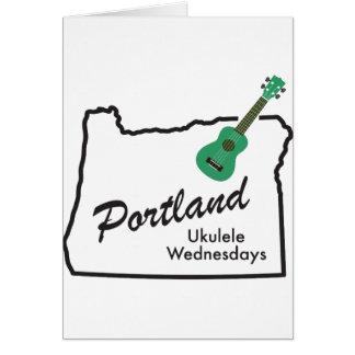 Portland Ukulele Wednesdays Card