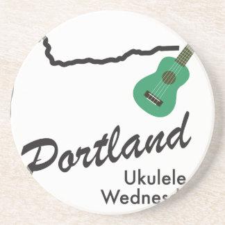 Portland Ukulele Wednesdays Coaster